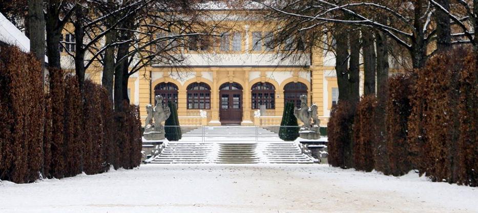 Rokokogarten-Veitshoechheim-Allee-Winter