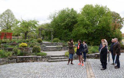 Bayerischer Rundfunk zu Gast bei Gartenerlebnisführerin Claudia Wäger in Dinkelsbühl