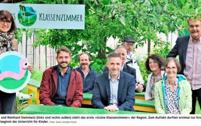 "Schule im Garten: Pilotprojekt ""Grünes Klassenzimmer"" ist in Himmelstadt gestartet"