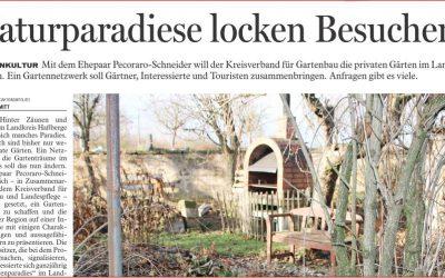 Projekt Gartenparadiese Haßberge. Gartenerlebnisführer tun was!