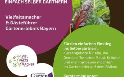 Kooperationsprojekt von Vielfaltsmacher und Gästeführer Gartenerlebnis Bayern